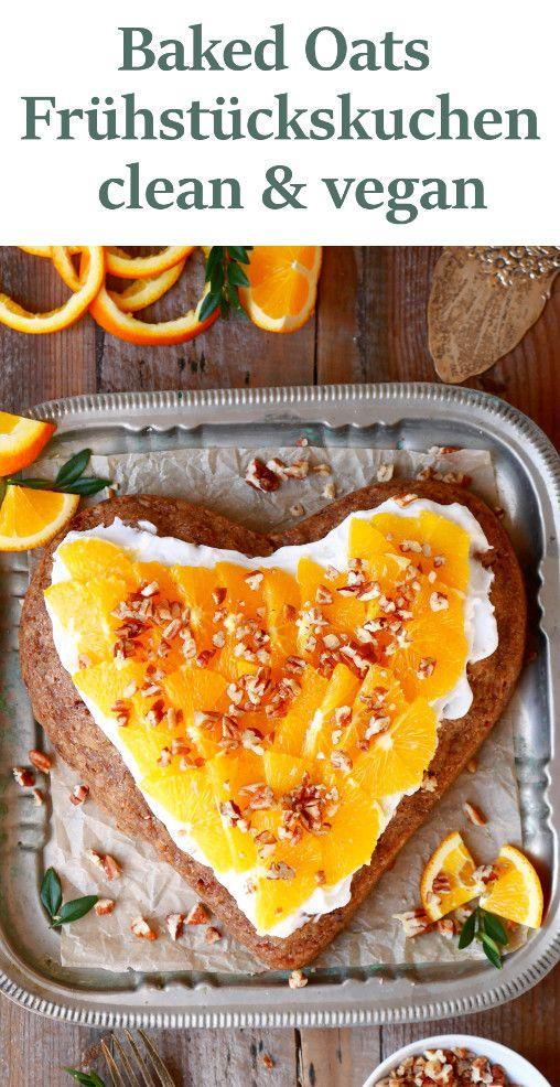 Vegan recipe for baked oatmeal. A sweet and healthy treat for breakfast. - Kuchen zum Frühstück ist immer eine gut Idee. Hier haben wir ein gesundes und veganes Rezept für Baked Oatmeal auf easytasting.com