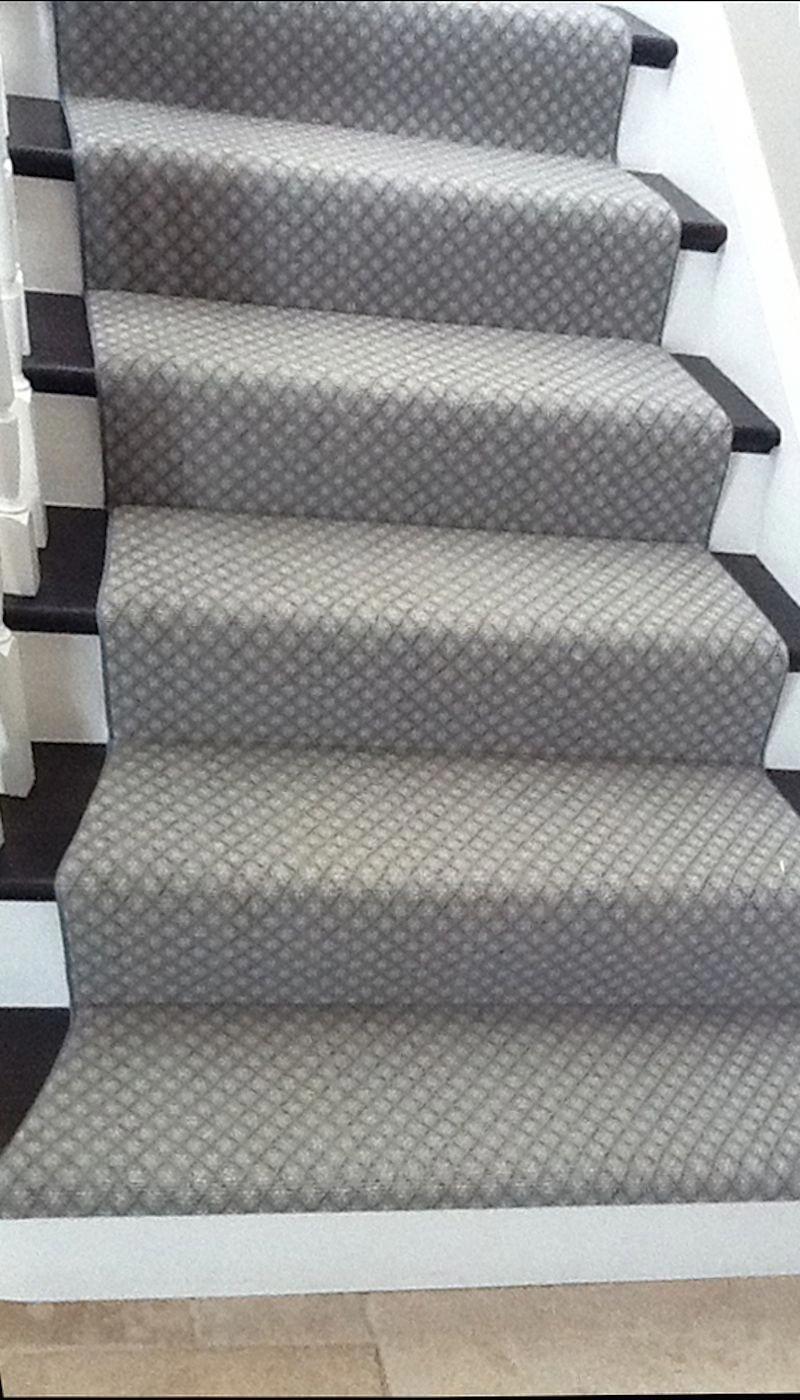 Image Result For Grey Carpet Black And White Stairs Runner   White Stairs With Grey Carpet   Top   Laminate Flooring Carpet   White Staircase   Grey Stripe   Dark Grey