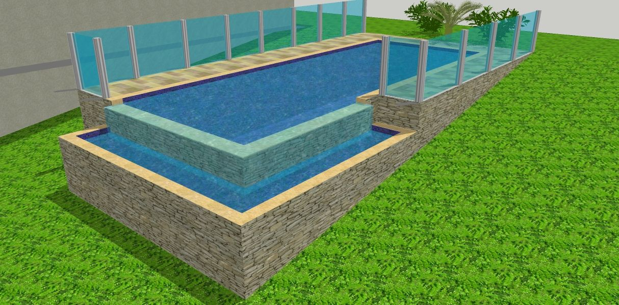 Piscina borda infinita como fazer pixels for Piscina infinita construccion