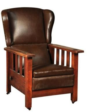 How To Identify An Antique Morris Chair: Example Of A Morris Chair By Grand  Rapids Furniture