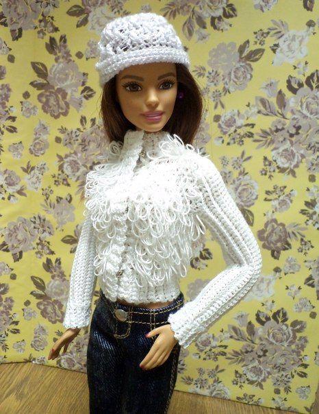 Фотография   Одежда для барби, Одежда для куколок, Вязаная ...