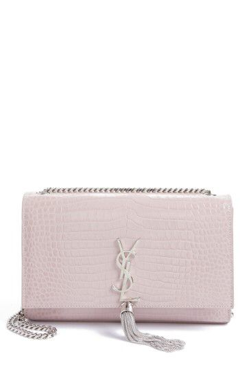 fce49949ccc6 Saint Laurent Saint Laurent Medium Kate Tassel Croc Embossed Calfskin  Leather Crossbody Bag available at  Nordstrom