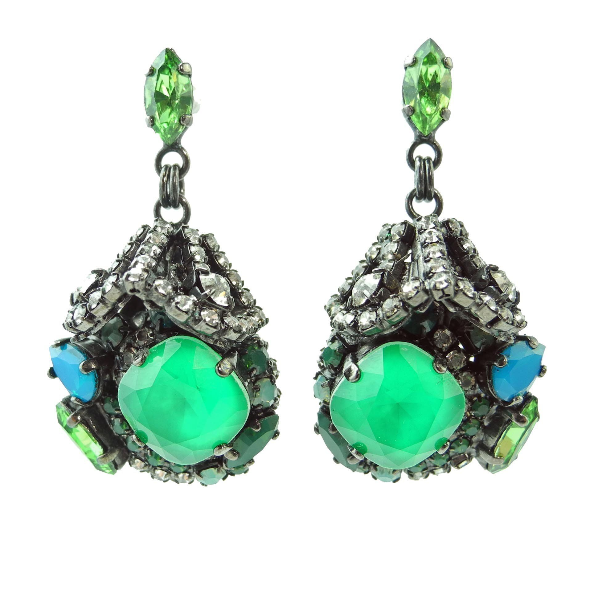 1941e3412 Bosa Nova Earrings Green | Products | Jewelry, Earrings, Emerald ...