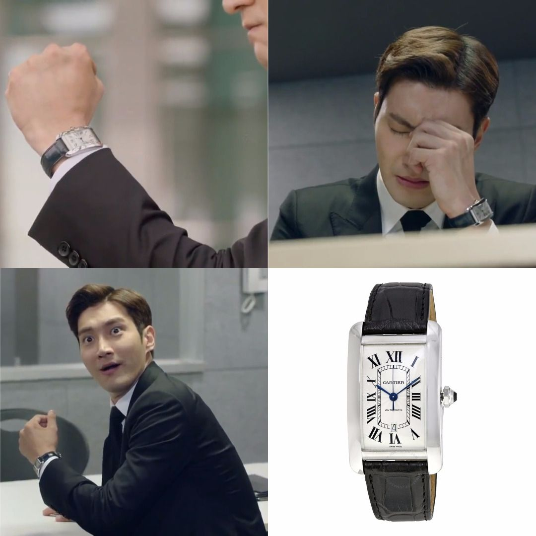 Dramafashion Idol Choisiwon Pick Cartier Automatic Silverdial Menswatch 10 995 Cartierwatch Tvn Choi Siwon Korean Drama Watches For Men