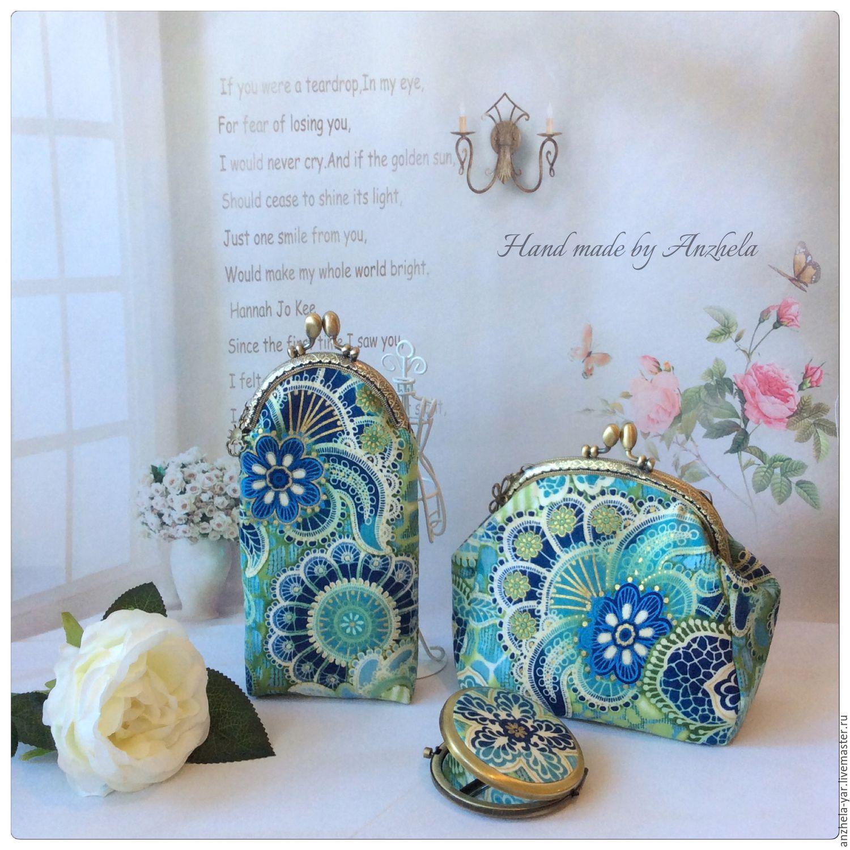 """Купить Комплект """"Цветочный"""" - комбинированный, цветочный, Аксессуары handmade, подарок на любой случай, аксессуары"""