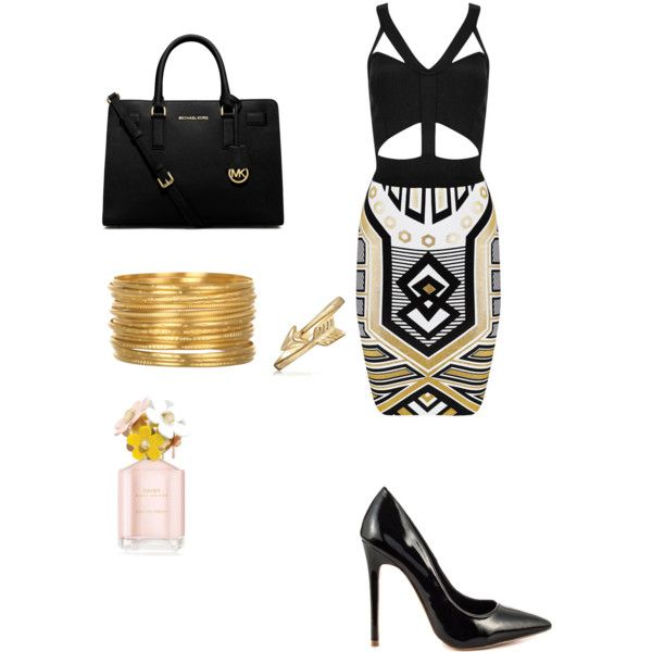A fashion look from January 2015 featuring Shoe Republic LA pumps, Michael Kors handbags and Satya Jewelry bracelets. Browse and shop related looks.