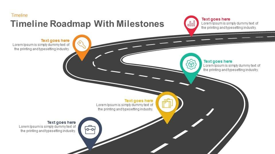 Timeline Roadmap with Milestones PowerPoint Template and Keynote