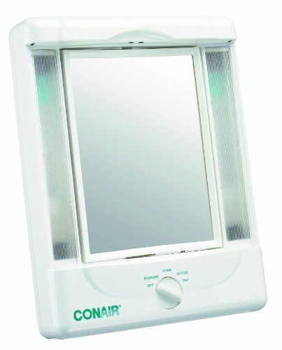 Conair Double Sided Lighted Makeup Mirror With 4 Light Settings 1x 5x Magnification Conair Http W Makeup Mirror With Lights Makeup Mirror Mirror With Lights