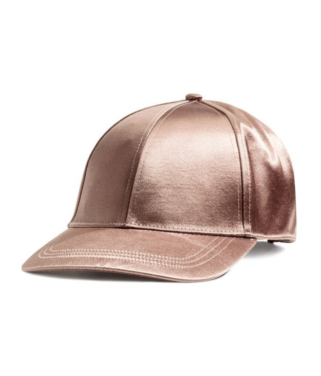 This satin pink cap that's more romantic than any date.