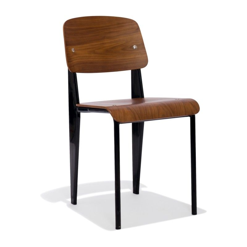 Prouve Chair With A Walnut Seat U2014 A Nod To The Iconographic French  Modernist Jean Prouve, The Prouve Standard Chair, Just Like Its Namesake,  Has A Certain ...
