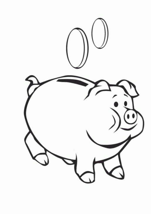 Online Printable Coloring Sheet Of Piggy Bank Letscolorit Com