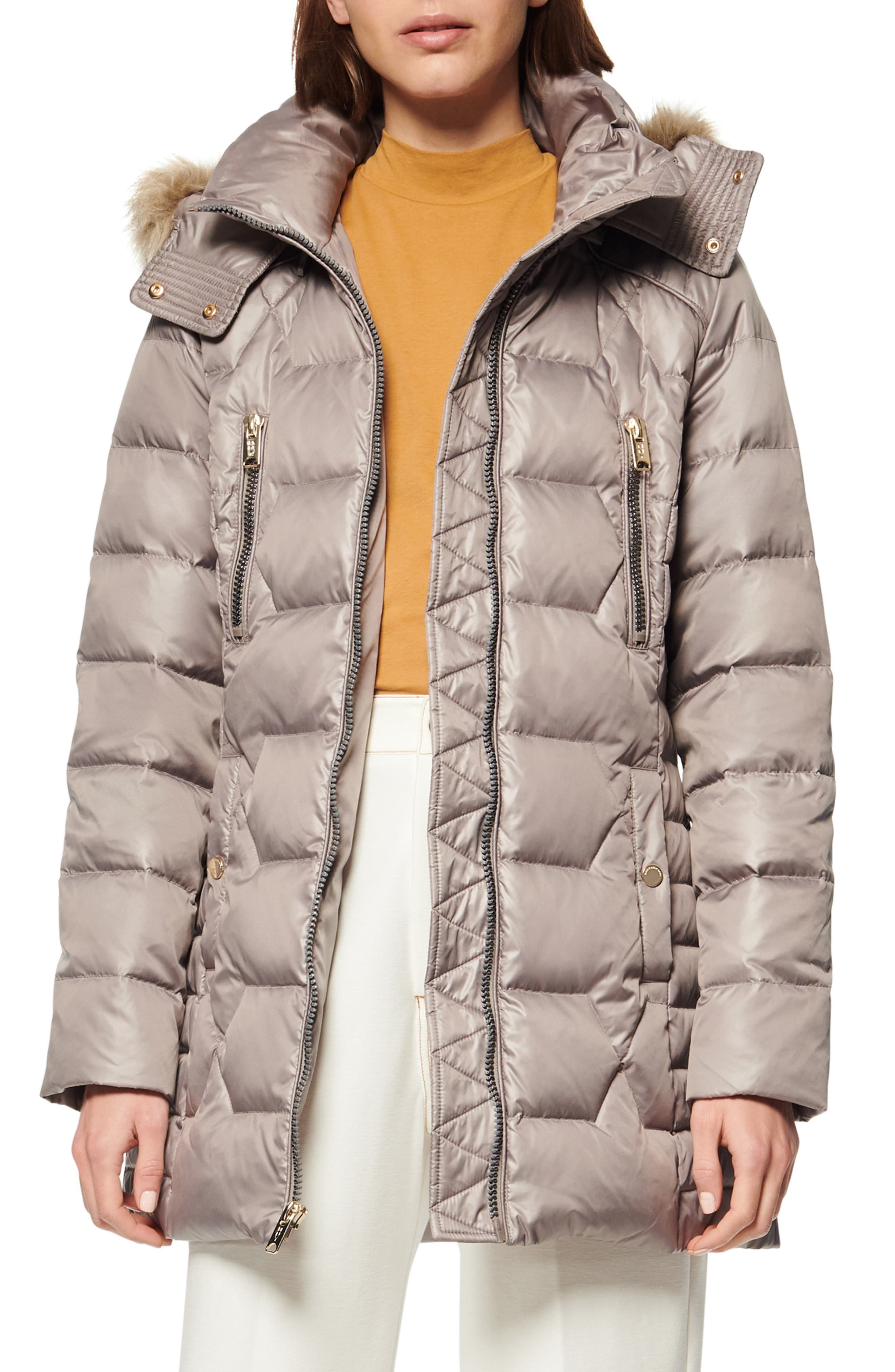 Marc New York Pomona Faux Fur Trim Down Puffer Jacket Nordstrom Womens Faux Fur Coat Womens Fashion Jackets Quilted Puffer Jacket [ 4048 x 2640 Pixel ]