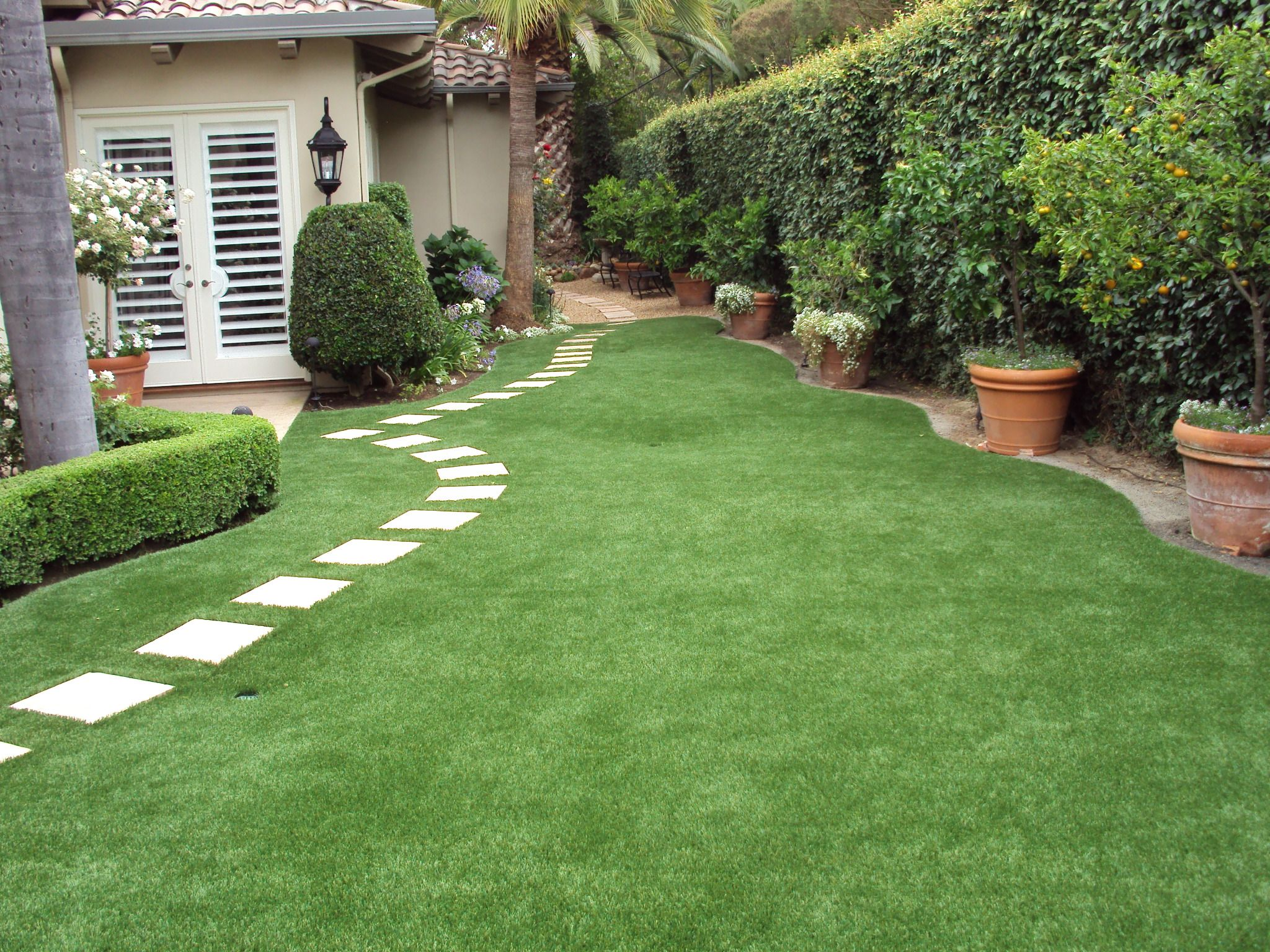 Artificial Turf Backyard Transformation Rancho Santa Fe Ca