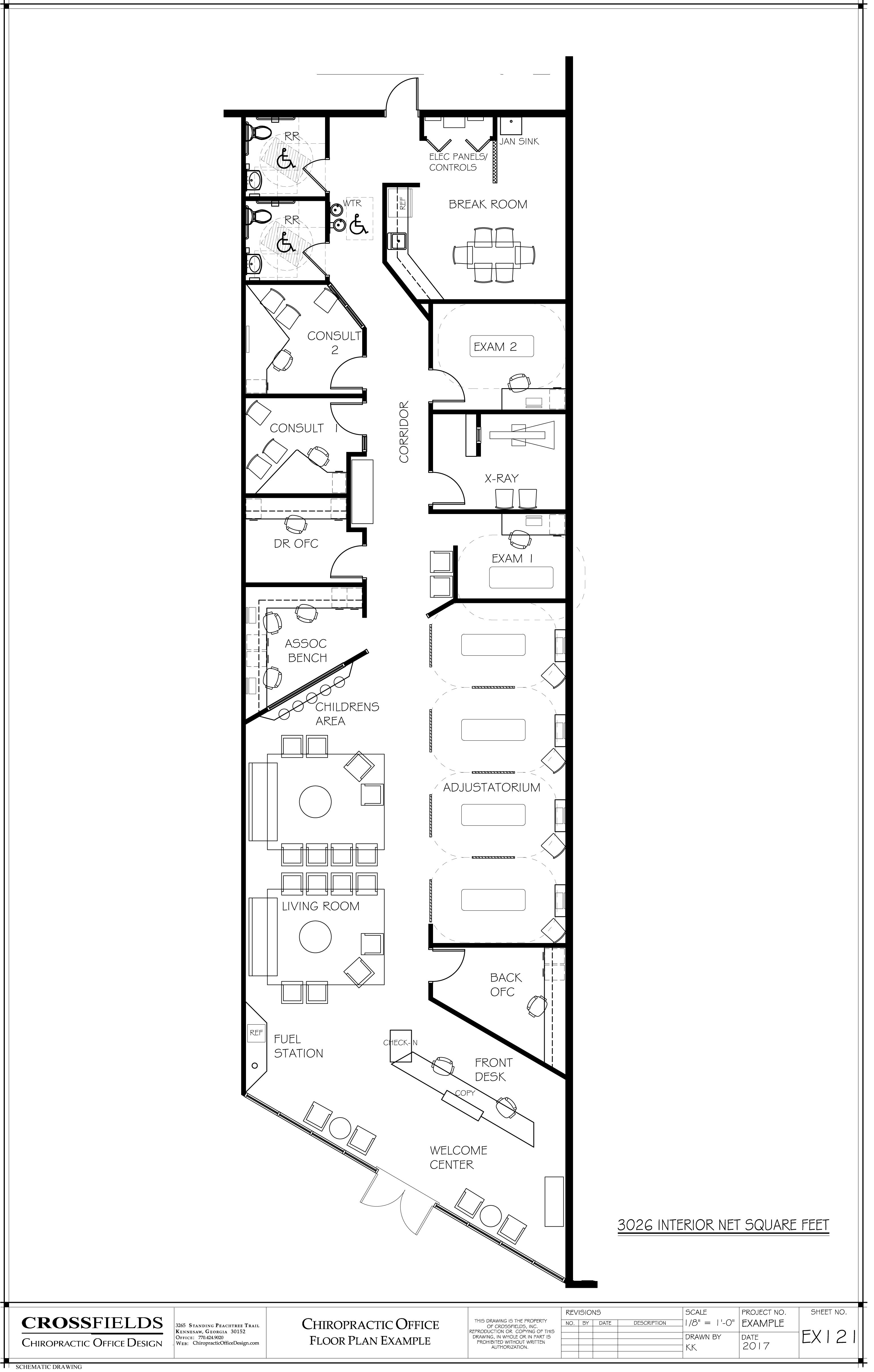 chiropractic office floor plans a dormitory and hostels Open Space Diagram ex le floor plan chiropractic ofiice with spinal care open adjustatorium living room consult multi doctor chiropracticofficedesign interiordesign