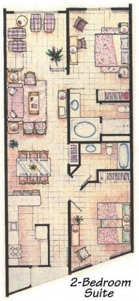 Costa Linda Beach Resort Photo Unit Floor Plan Floor Plans How To Plan Flooring