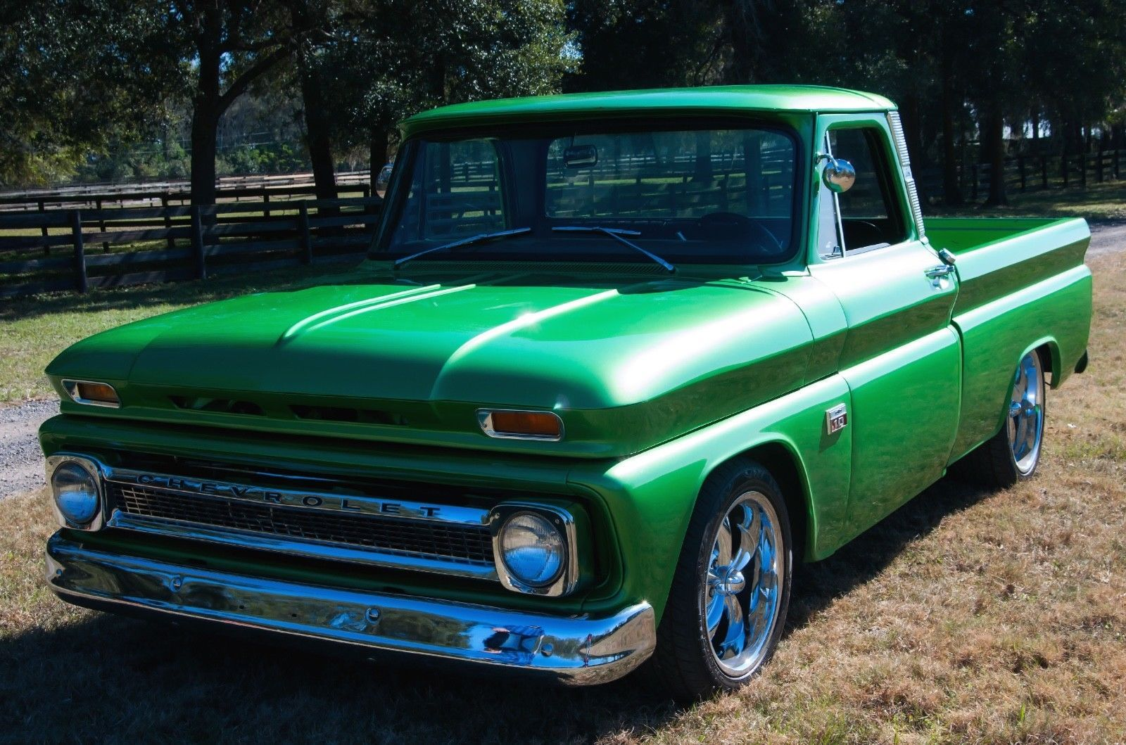 Awesome Great 1966 Chevrolet C10 Pickup Custom 1955 Chevy Stepside Truck Restromod Only 1245 Miles Since Complete Restro 2017 2018