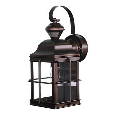 Heath-Zenith HZ-4144 Motion Activated New England Carriage Signature Decorative Outdoor Sconce | The Mine  sc 1 st  Pinterest & Heath-Zenith SL-4144 Motion Activated New England Carriage Signature ...