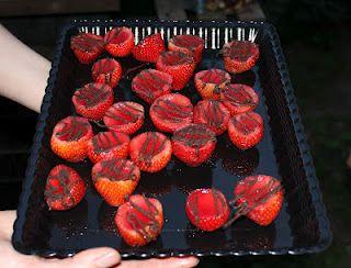 Strawberry Chocolate Jello Shots at Mod Mischief