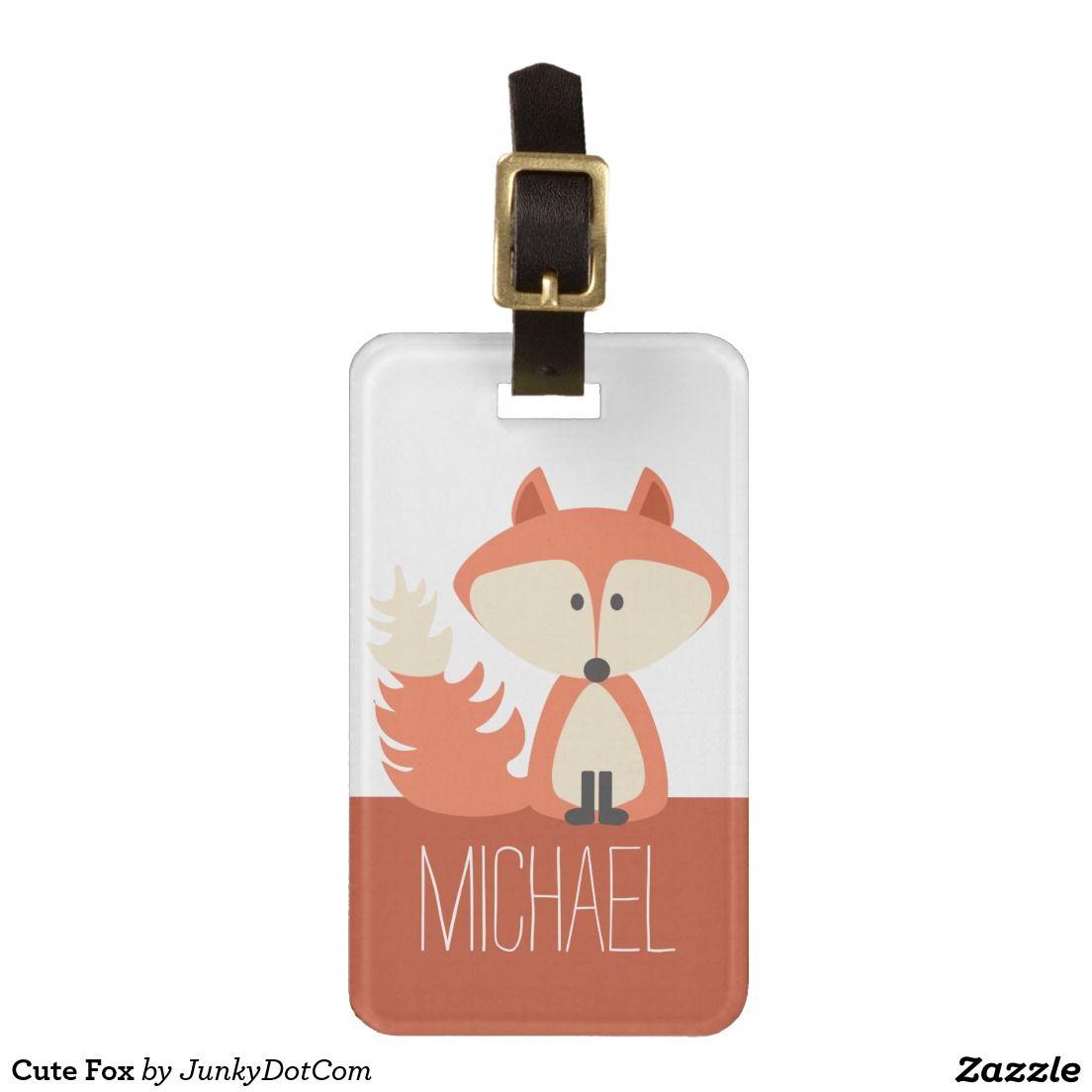 Cute Fox Bag Tag Nov 17 2016 @zazzle #junkydotcom
