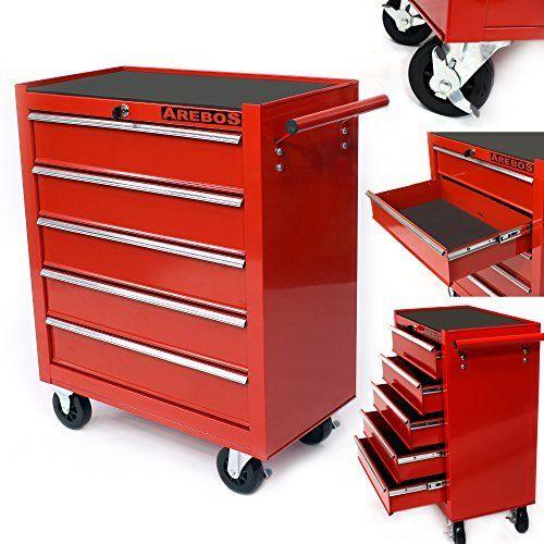 Servante Caisse A Outils D Atelier 5 Tiroirs Tools Chest Chariot Rouge Caisse A Outils Tiroir Outils