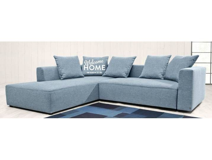 Tom Tailor Eck Sofa Blau 302cm Recamiere Links Heaven Casual Xl Couch Warm Grey Furniture