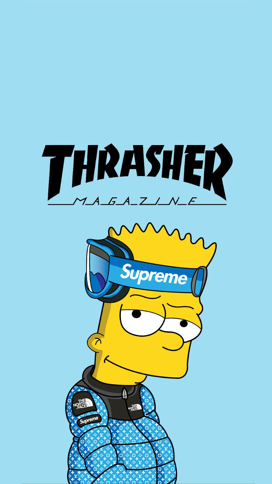 Wallpapers Simpsons Para Celular Android Iphone Atc Bart Simpson Art Supreme Iphone Wallpaper Supreme Wallpaper