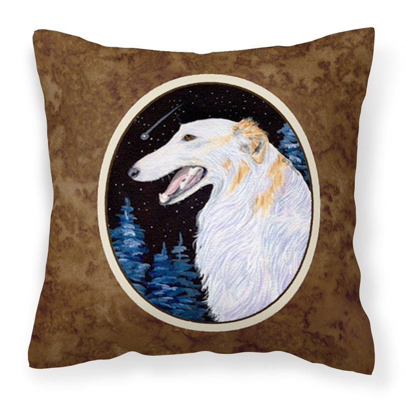 Carolines Treasures Borzoi Canvas Square Outdoor Pillow - SS8626PW1414, Durable