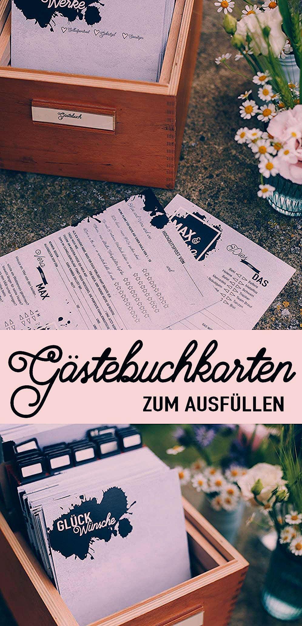 Photo of DIY Gästebuchkarten selbermachen zur Hochzeit – Inhalte, Lückentexte
