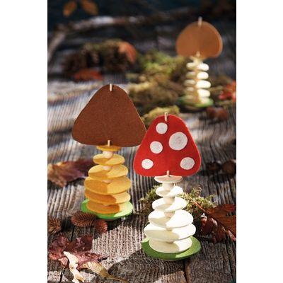 """Sachenmacher """"Filzstecker Pilze""""   Herbst & Halloween   Saisonales Basteln & Anlässe   Sachenmacher   Wehrfritz Österreich"""