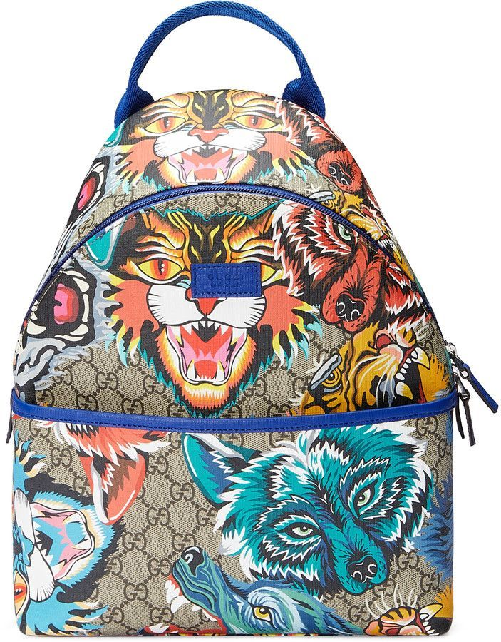 f612b5b0f151 Gucci Children's GG animal faces backpack | Alonso in 2019 | Gucci ...