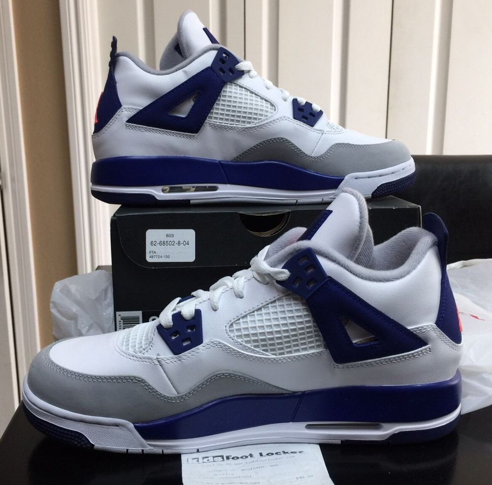 the latest e468d f99ee Air Jordan Retro 4 Deep Royal GS Size 9Y With Receipt | eBay ...