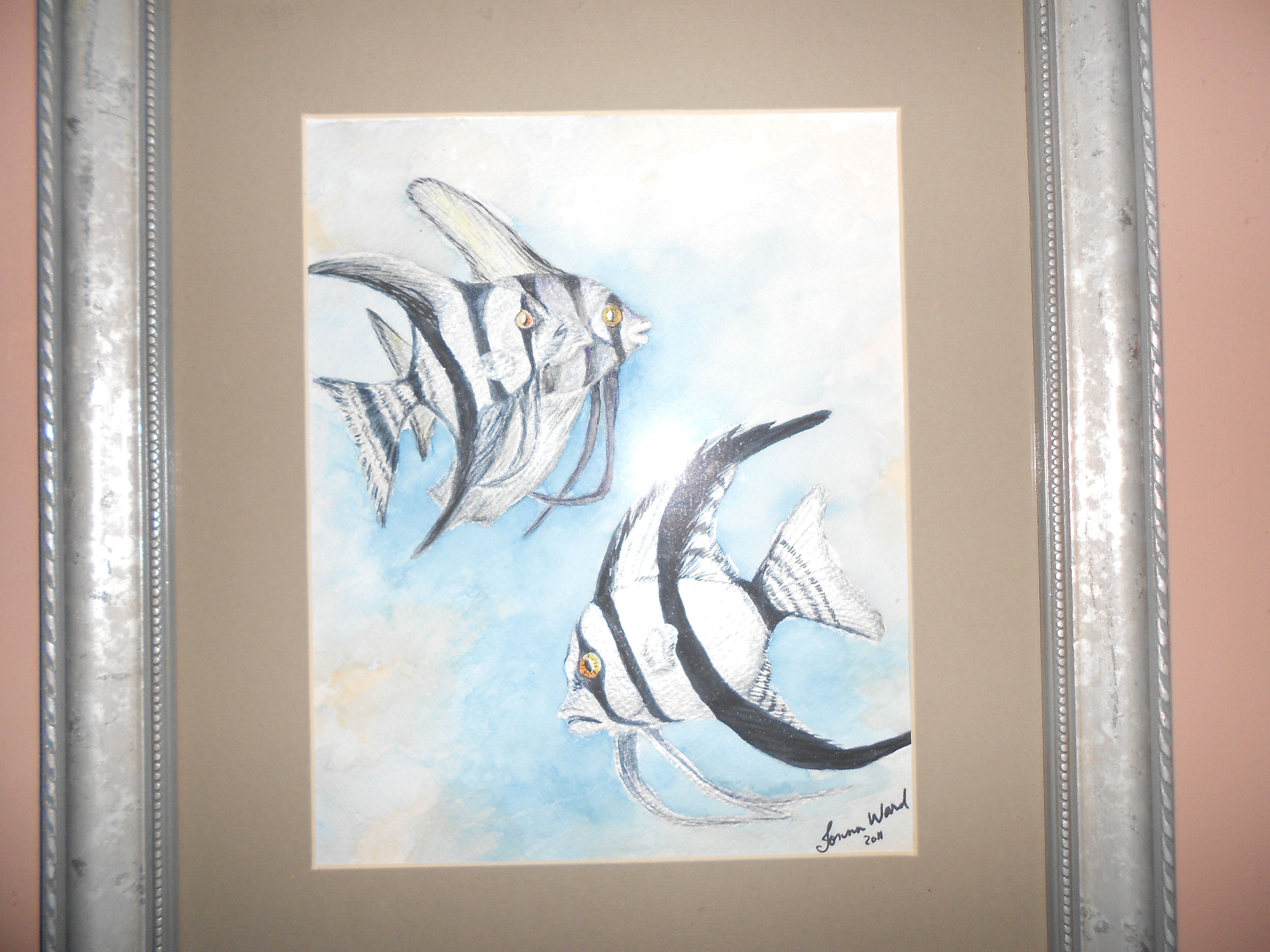 Angel Fish Water Color