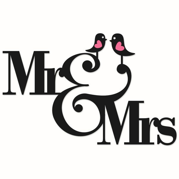 Mr And Mrs Wedding Cuttable Designs