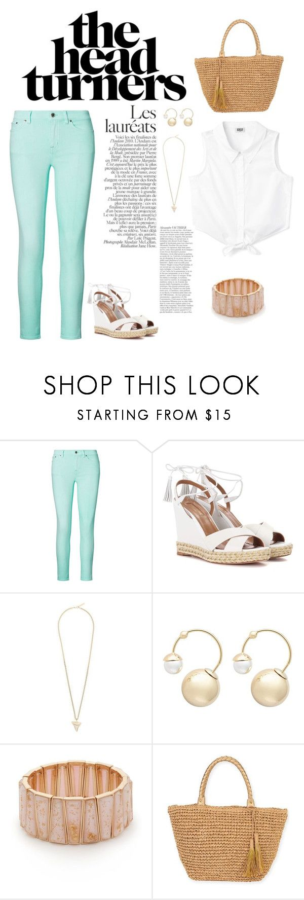 """Spring Look"" by stileclassico ❤ liked on Polyvore featuring Ralph Lauren, Aquazzura, Givenchy, Witchery, New Directions and Sun N' Sand"