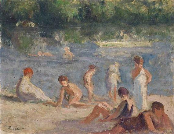 Maximilien Luce, Méricourt, Baigneurs
