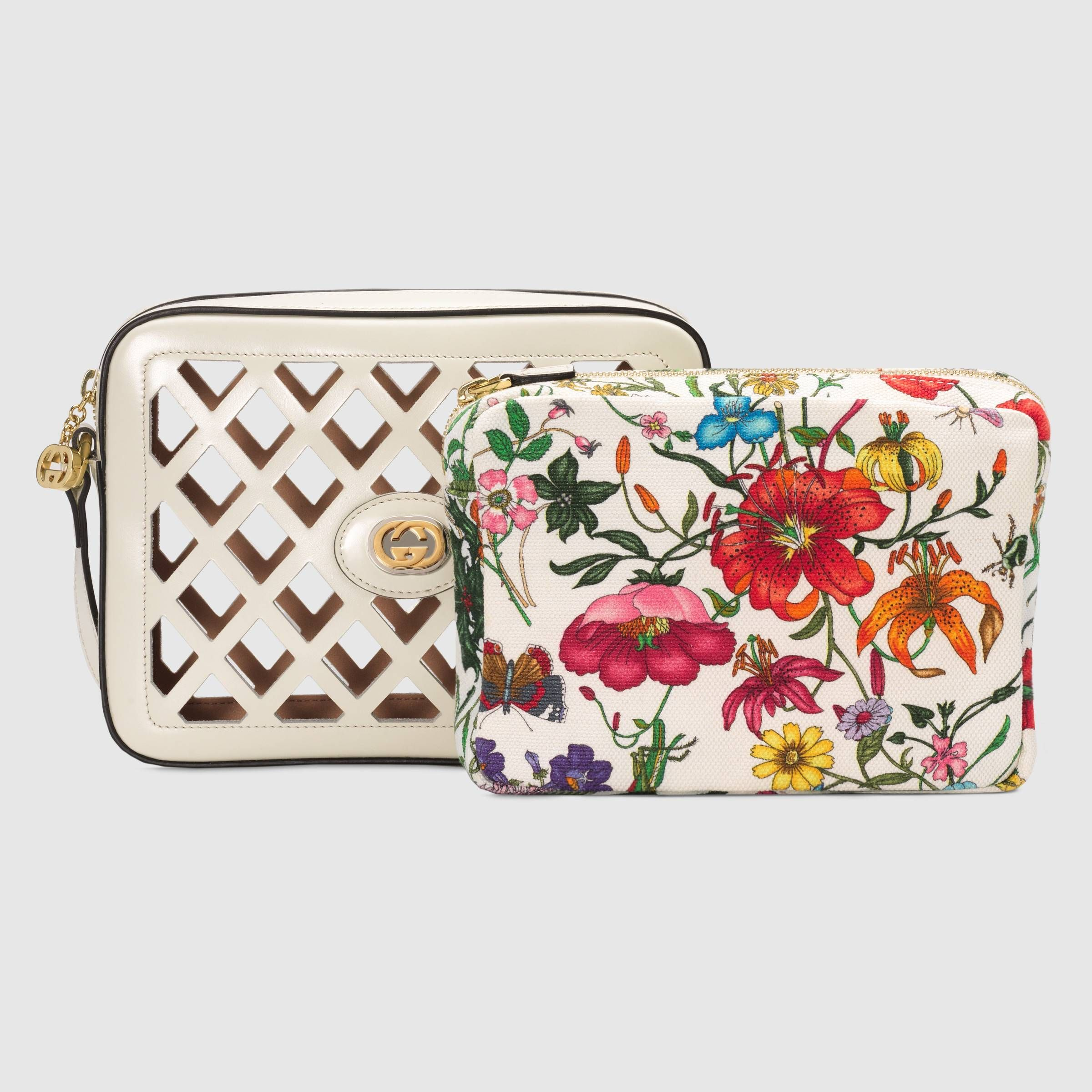 a3f74a2ecafd Small cutout leather shoulder bag in White cutout leather | Gucci Women's  Crossbody Bags