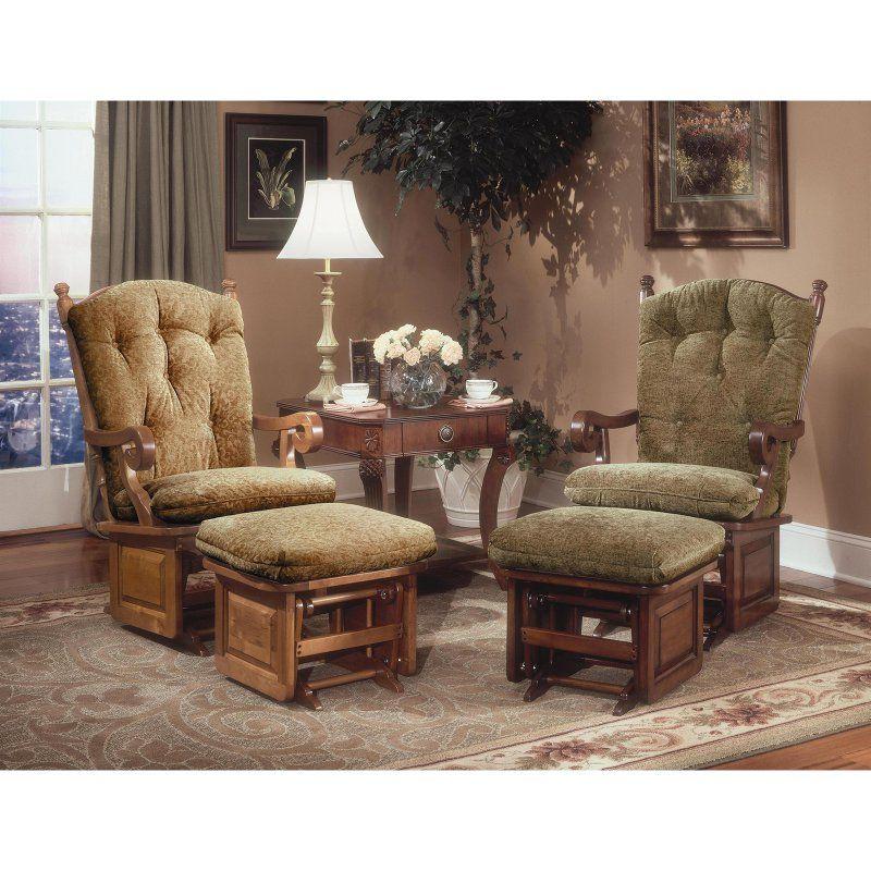 Brooks Furniture Millard Glider Rocker Clemson Diamond Dark Red 1006 4129 02