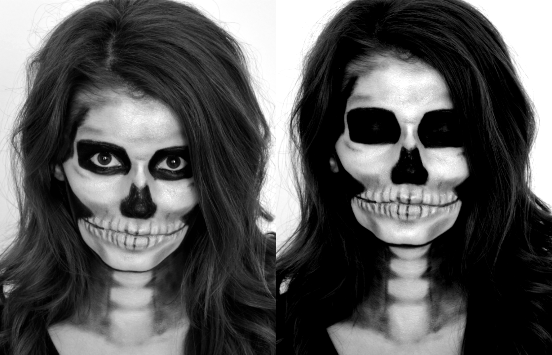 Skeleton makeup tutorial for Halloween | Scary makeup ideas for ...