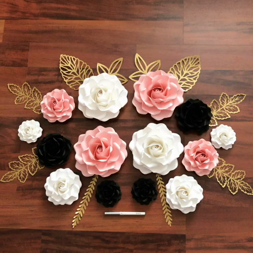 New Tiny Roses Paper Flower Set. Templates are Available in The ...
