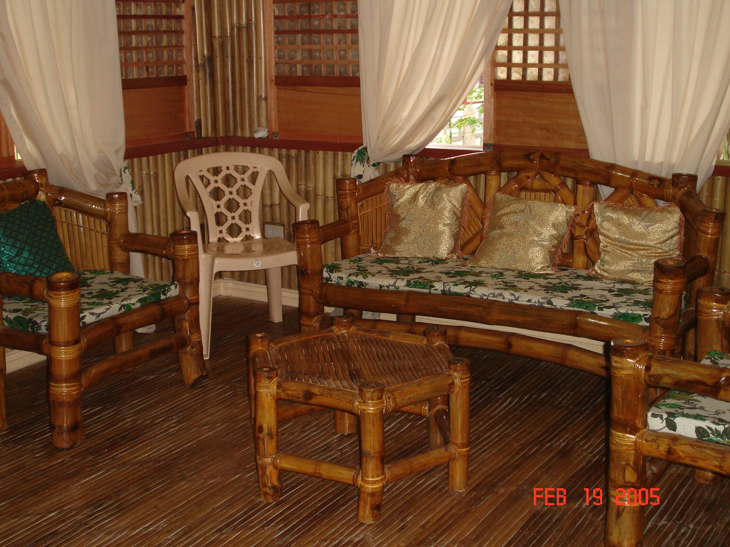 Sala Set For Sale In Bohol Furnitures Made Out Of Bamboo Huts