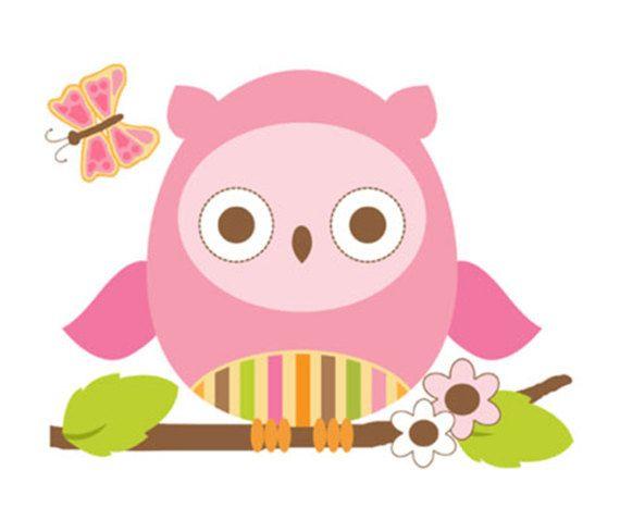 Owls Jungle Animals Wooden Bedroom Furniture Kids: OWL NURSERY DECOR Wall Art Decal Girl Woodland Forest
