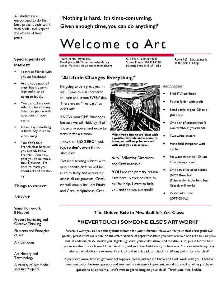 art syllabus middle school - Google Search | i love teaching