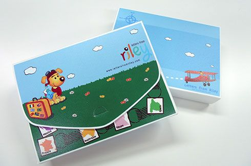 Eye-catching plastic boxfile that we manufactured for a customer