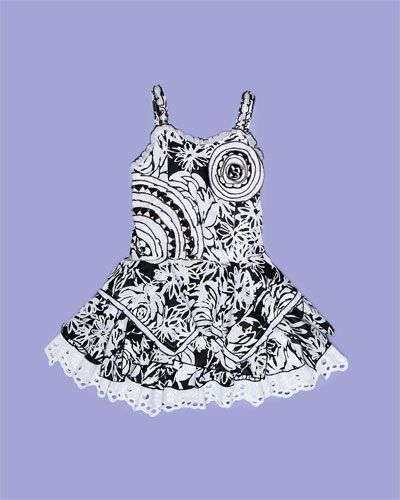 Black and White Dress for Girls