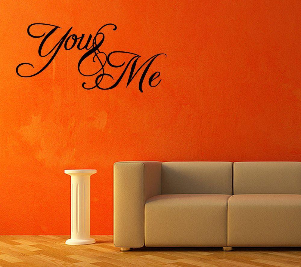 You u me bedroom vinyl wall decal sticker quote art love gift idea