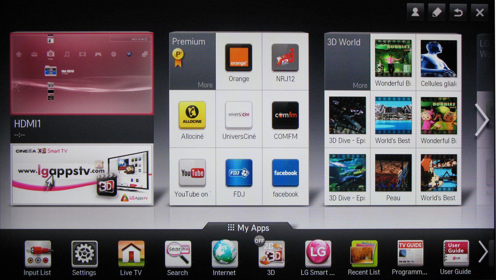 LG 47LM860V TV Review - menu interface | TV UI design | Tv app, Tv