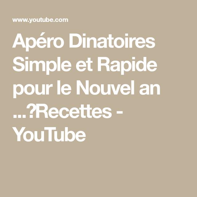 Apéro Dinatoires Simple et Rapide pour le Nouvel an ...⎜Recettes