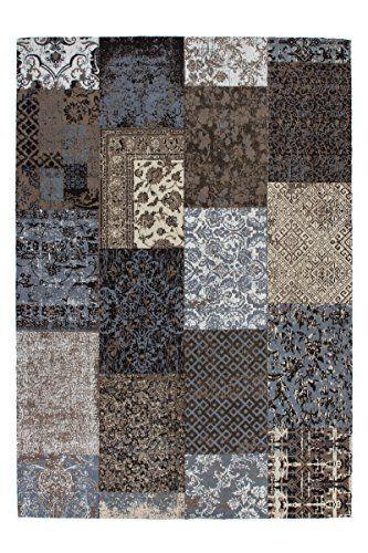 Teppich Wohnzimmer Carpet modernes Design Patchwork RUG Symphony 160 - Teppich Wohnzimmer Braun