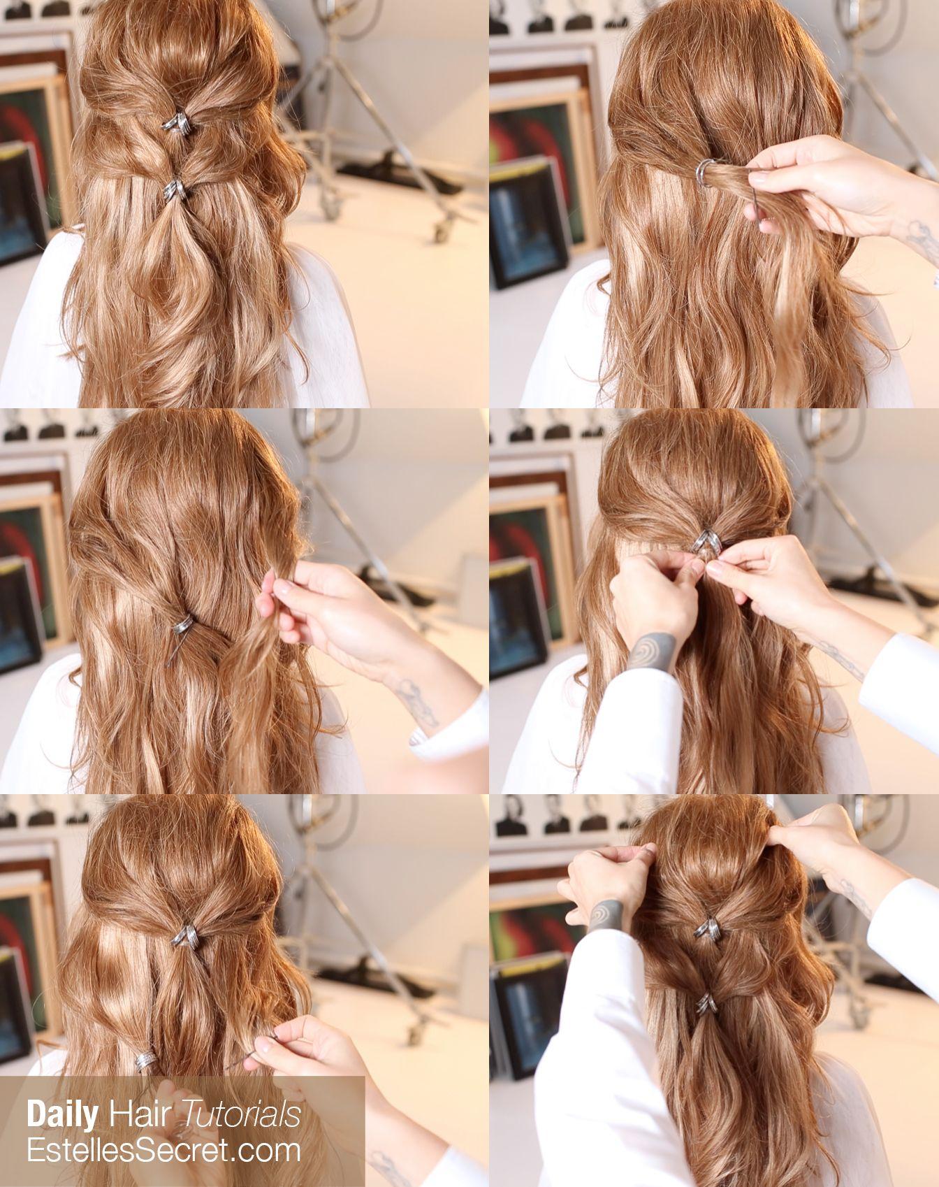 Romantic Greek Goddess Inspired Half Updo Using Estelles Secret Clip In Hair Extensions Quick Easy Hairs Easy Hairstyles Hair Styles Short Hair Styles Easy