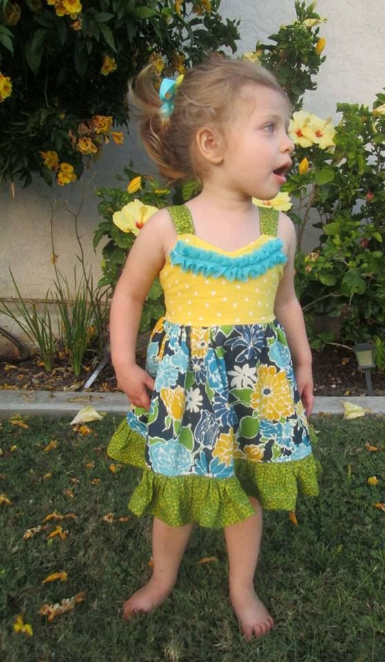 Girls Berry Patch Dress PDF Sewing Pattern by Little 4 Awhile ...